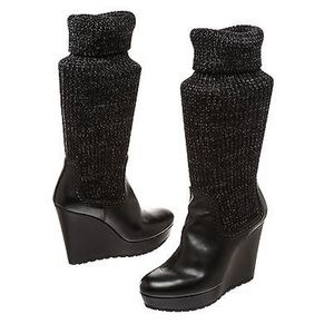 f339059ab76 Gucci Shoes - Gucci leather knitted wedge boots
